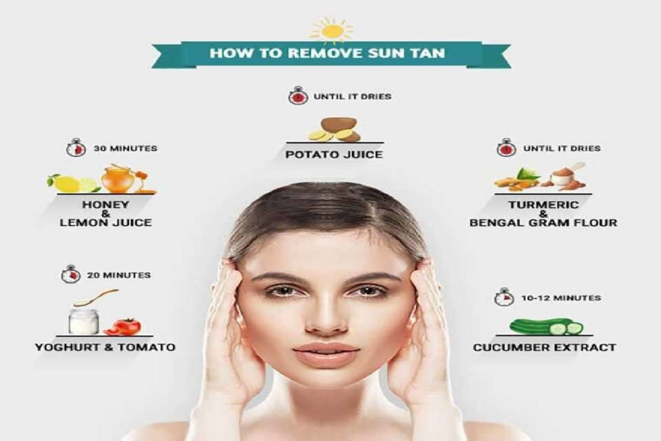 home remedies to remove tan